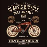 Bicicleta clássica construída para design de velocidade