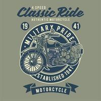 Motocicleta clássica do cavaleiro vetor