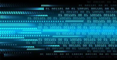 Conceito de circuito cibernético binário azul