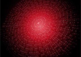 código cibernético binário vermelho vetor