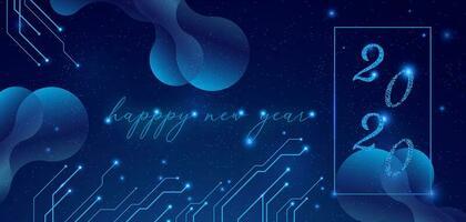 Feliz ano novo elegante 2020 vetor