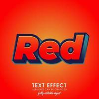 efeito de texto premium 3d vermelho vetor