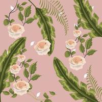 Fundo floral vintage vetor