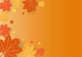 Feliz dia de ação de Graças cartão de celebração com bordo laranja Outono folhas vetor