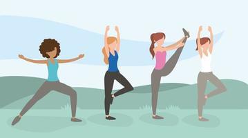 mulheres saudáveis treinamento estilo de vida exercício