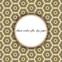 Linha hexagonal de padrão vintage