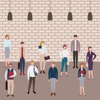 espaço de trabalho de pessoas de negócios