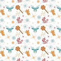 design de papel de parede de natal com anjos e pirulitos vetor