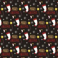 design de padrão de Natal com meia e varinha vetor