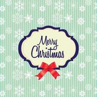 cartão de feliz natal com padrão de floco de neve vetor