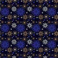 design de padrão de flocos de neve colorida vetor