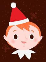 Menino elfo de Natal vetor