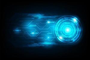 Conexão abstrata círculo futurista com circuito de luz de sinalização vetor