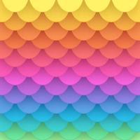 3D arco-íris papel peixe escala vetor de fundo