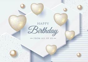 Feliz aniversário comemoração tipografia para cartão