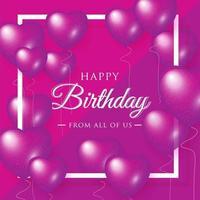 Feliz aniversário comemoração tipografia para saudação banner