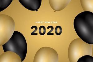Ano novo 2020 fundo vetor