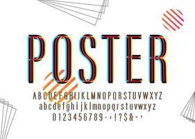 Alfabeto colorido moderno do poster