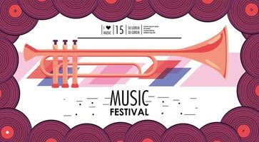 banner de evento do festival de música vetor