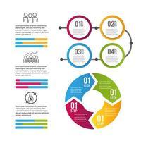 processo de informações de negócios de dados infográfico