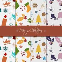 Coleção de papel de padrão de Natal vetor