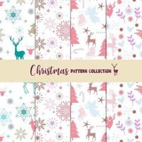 Coleção de padrão de Natal pastel