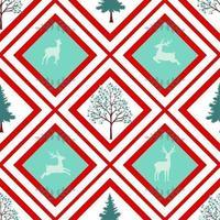 Padrão sem emenda de feriado de Natal em fundo geométrico