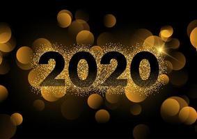 Feliz ano novo fundo com efeito de brilho vetor