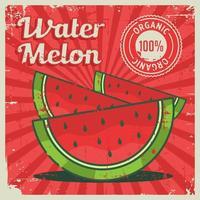 Sinalização retro vintage de melancia vetor