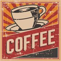 Sinal de café retrô vintage velho vetor