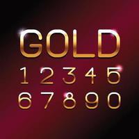 Números de fonte VIP GOLD vetor