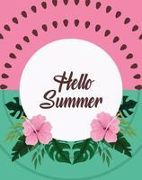 Olá cartão cartaz verão