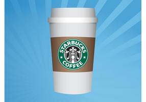 Taça Starbucks vetor