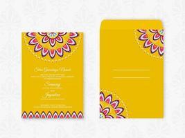 Vetor de cartão de casamento hindu criativo