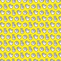 rock paper scissors seamless pattern vetor