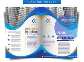 Modelo de Brochura - negócio com tema de forma curvada vetor
