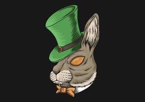 Projeto do dia de São Patrício cabeça de coelho vetor