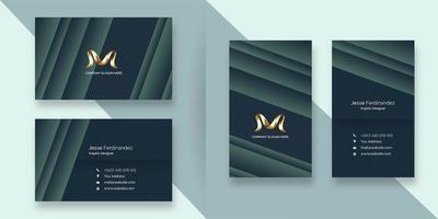 Modelo de cartão de negócios moderno estilo de camada de cor profunda