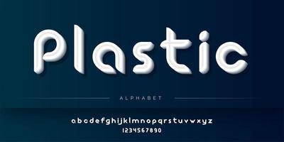 Conjunto de alfabeto de estilo plástico vetor