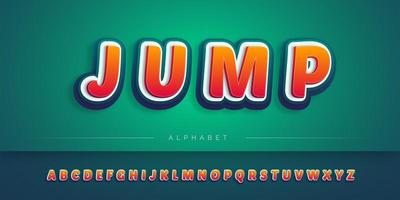 Conjunto de alfabeto 3D em camadas vetor