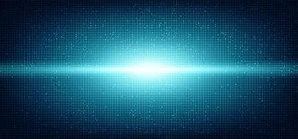 Microchip de circuito de luz digital em fundo de tecnologia. vetor