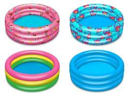 conjunto de piscina inflável