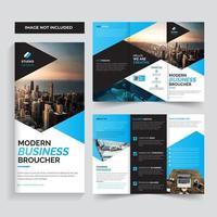 Design de modelo triplo de brochura de negócios corporativos vetor