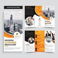 Design de modelo laranja brochura de negócios corporativos vetor