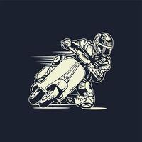 Scooter de equitação do homem