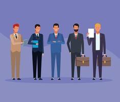 grupo de homens de negócios vetor