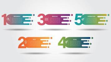 Modelo de design de infográfico de negócios com ícones coloridos vetor