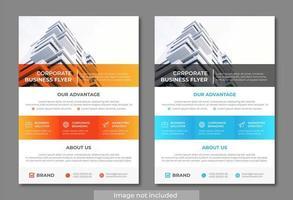 Modelo de panfleto de negócio moderno e limpo Design de retângulo vetor
