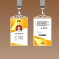 Modelo de Design de cartão de identificação moderno amarelo vetor