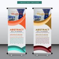 modelo de banner de design curvo vertical vetor